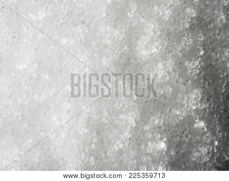 Common table salt, salt crystals, high magnification macro.