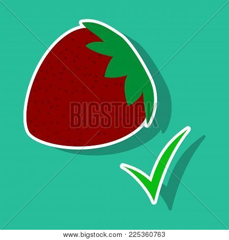 Strawberry , realistic juicy halves of strawberry berries with green leaves isolated on background.