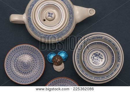 It Is Image Of Teapot And Teacup With Tea Decoration