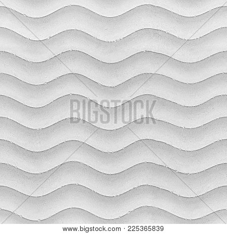 White seamless wavy stone texture background pattern. Gypsum plaster stucco seamless wavy texture pattern stone surface. Water waves wavy background gray pattern. Abstract seamless waves background