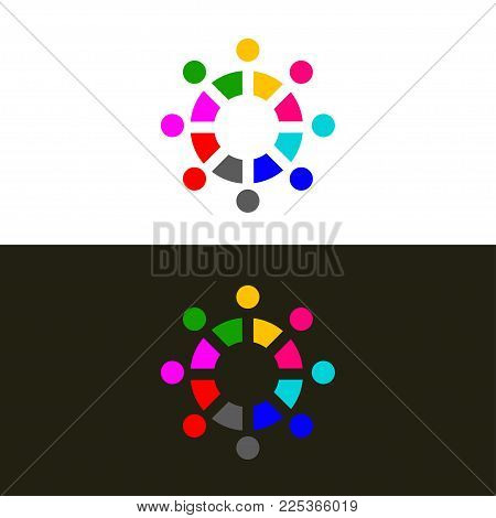 Logo of association. Icon community, networking, alliance. Vector illustration
