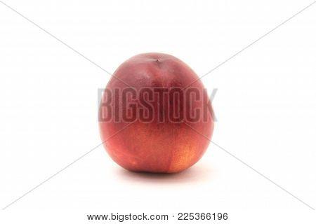 Nectarine isolated on white background for any purpose