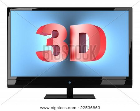 3D Tv. Include Clipping Path
