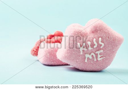Heart-shaped Valentines Candies With