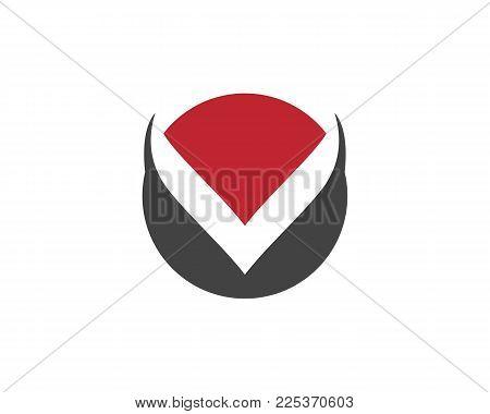 V Letter Logo Template Vector Icon