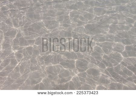 Clear Water Surface With White Sand At Phuket , Thailand