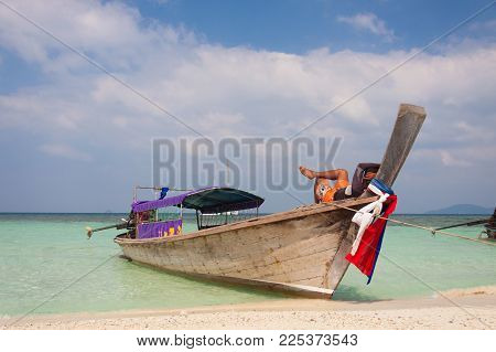 Relax On The Boat (traditional Thai Boat)