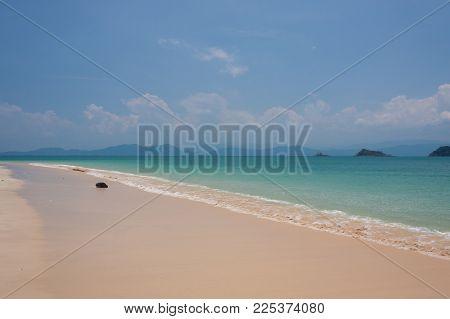 Emerald Sea And Blue Sky At Krabi , Thailand