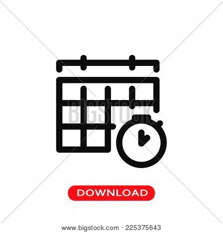 Schedule icon vector in modern flat style for web, graphic and mobile design. Schedule icon vector isolated on white background. Schedule icon vector illustration, editable stroke and EPS10. Schedule icon vector simple symbol for app, logo, UI.