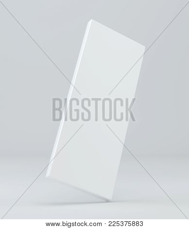 Blank White Package Product Packaging Paper Cardboard Box. 3d Illustration.
