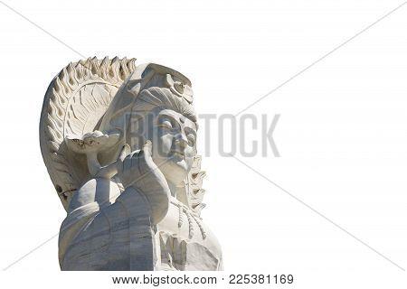 Close up portrait Guan Yin statue, Guan Yin is the Chinese god.