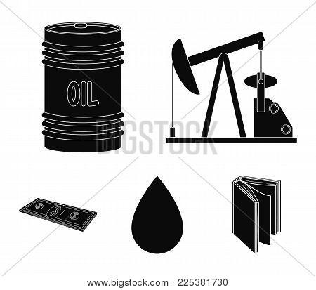 Pump, Barrel, Drop, Petrodollars. Oil Set Collection Icons In Black Style Vector Symbol Stock Illust