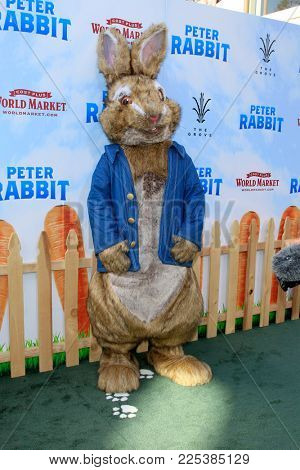 LOS ANGELES - FEB 3:  Peter Rabbit, Character, Atmosphere at the
