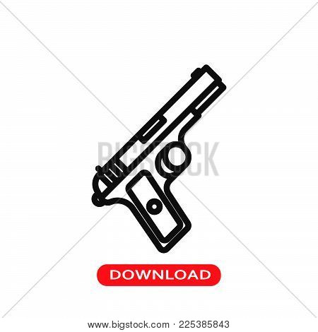 Gun icon vector in modern flat style for web, graphic and mobile design. Gun icon vector isolated on white background. Gun icon vector illustration, editable stroke and EPS10. Gun icon vector simple symbol for app, logo, UI.