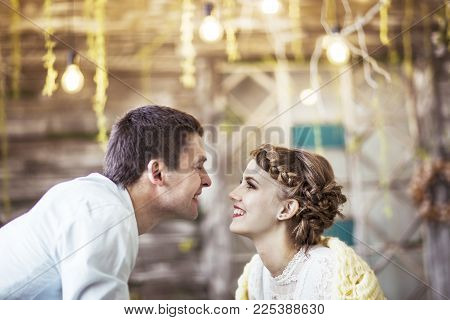 closeup of a loving couple-husband and wife
