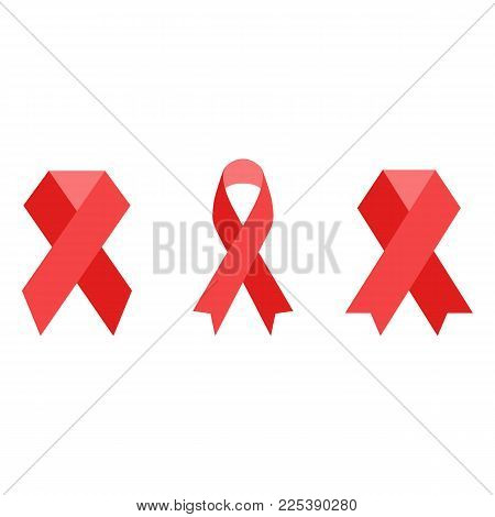 AIDS ribbon icon. AIDS awareness red ribbon. World Aids Day Speed