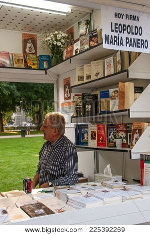 Leopoldo Maria Panero In The Booth Of The Book Fair Of Madrid. Spain On June 10, 2011