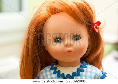 A Portrait Of A Beautiful Doll Toy