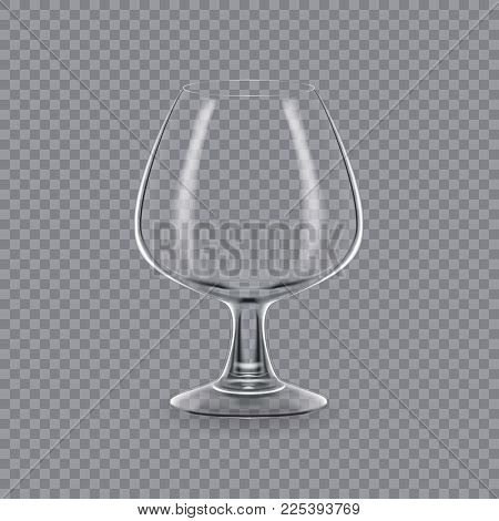Realistic template of an empty transparent alcohol glass and mug. Template, glass package, mockup, layout, breadboard, empty glass, mugs, for drink liquor. Vector illustration isolated.