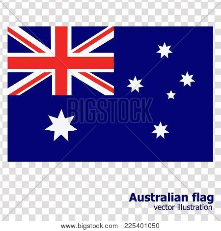 Bright Background With Flag Of Australia. Happy Australia Day Background. Illustration With Transpar