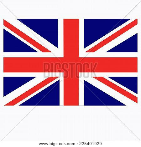 Bright Background With Flag Of England. Happy England Day Background. Bright Illustration With Flag.