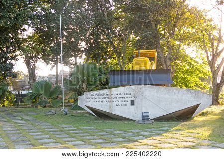Memorial Of Train Packed With Government Soldiers Captured By Che Guevara's Forces. Santa Clara, Cub