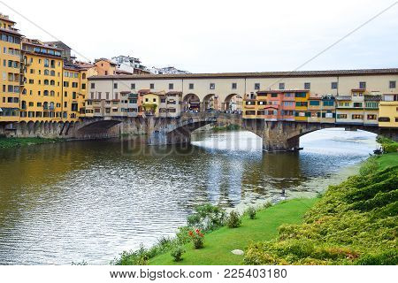 Ponte Vecchio In Florence In Italy In The Summer.