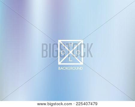 Indigo Background. Iridescent Cover.  Abstract Neon Colors Backdrop.  Trendy Creative Vector Cosmic