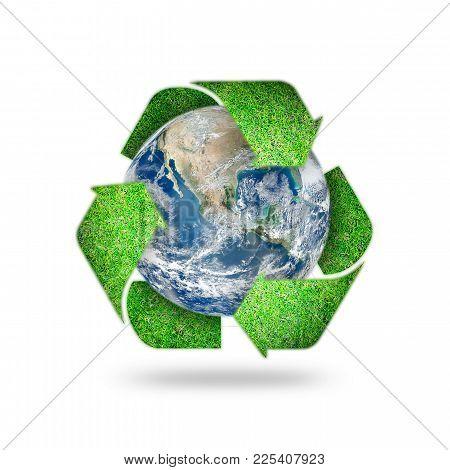 Save World Environmental, Earth Day, Energy Saving Protection Awareness Campaign, Csr Concept: Eleme