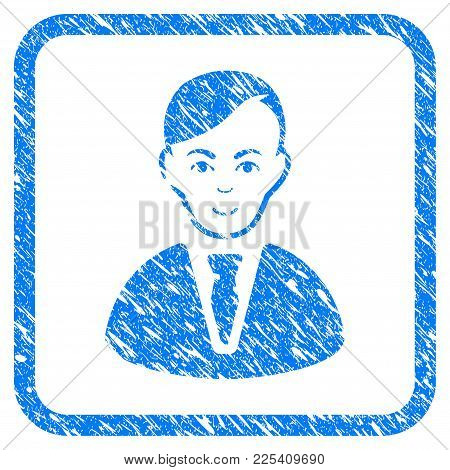 Businessman Rubber Seal Stamp Watermark. Icon Vector Symbol With Grunge Design And Dust Texture In R