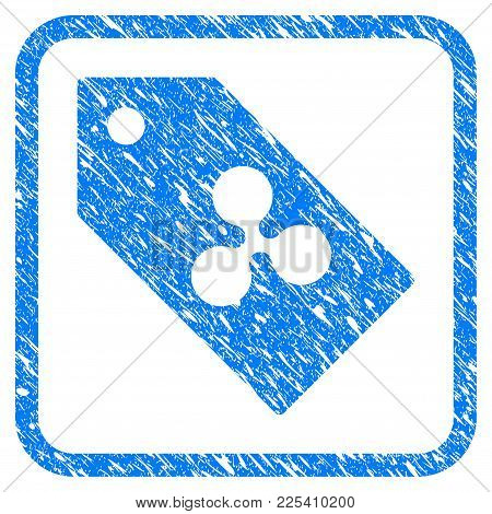 Ripple Token Rubber Seal Stamp Imitation. Icon Vector Symbol With Grunge Design And Corrosion Textur