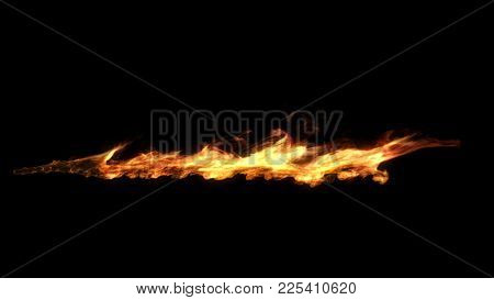 Flame Shooting Out Like A Flamethrower. Computer Generated Effect.