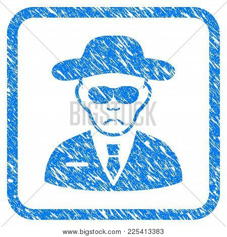 Spy Rubber Seal Stamp Watermark. Icon Vector Symbol With Grunge Design And Dirty Texture Inside Roun