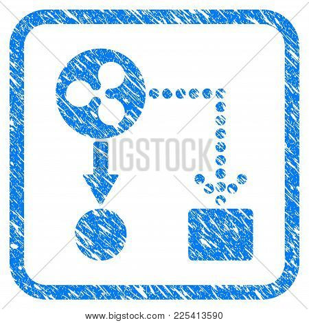 Ripple Cashflow Rubber Seal Stamp Imitation. Icon Vector Symbol With Grunge Design And Dust Texture