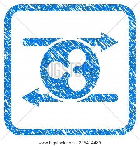 Ripple Transaction Arrows Rubber Seal Stamp Watermark. Icon Vector Symbol With Grunge Design And Dus