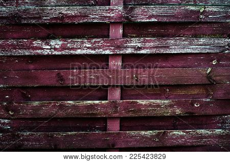 Painted Old Wooden Wall. Red Background. Vintage