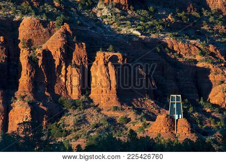 Chapel Of The Holy Cross Near Sedona, Az