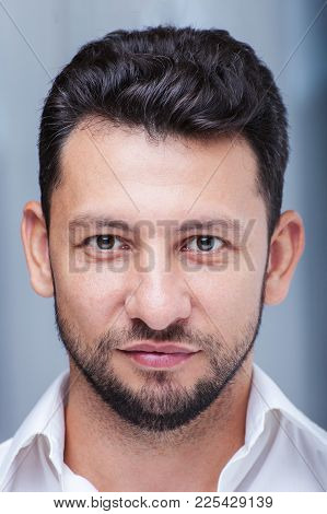 Middle Eastern Young Attractive Man With Beard, Studio Portrait