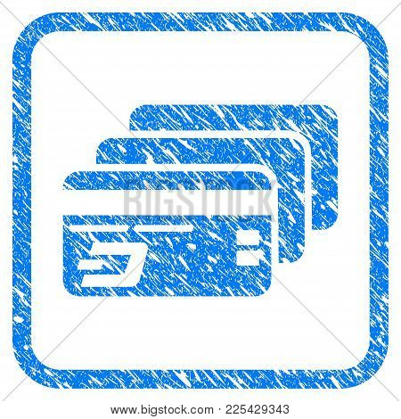 Dash Bank Cards Rubber Seal Stamp Imitation. Icon Vector Symbol With Grunge Design And Dirty Texture