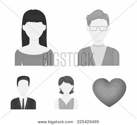 A Man With Glasses, A Girl With A Bang, A Girl With Earrings, A Businessman.avatar Set Collection Ic