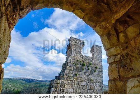 Remains Of The Yehiam Fortress, From The Crusader And Ottoman Period, In The Western Upper Galilee,
