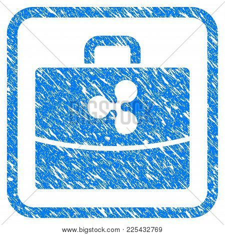 Ripple Accounting Case Rubber Seal Stamp Watermark. Icon Vector Symbol With Grunge Design And Unclea