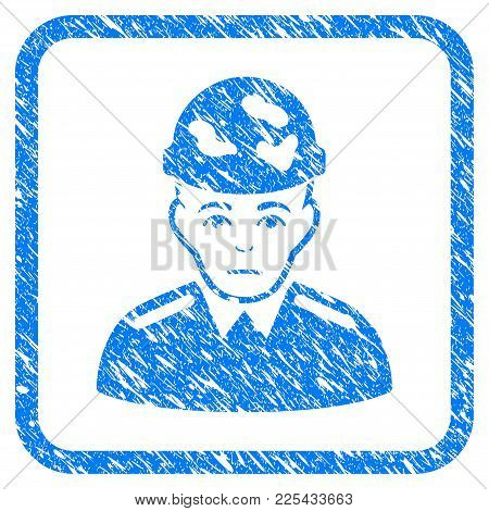 Soldier Rubber Seal Stamp Watermark. Icon Vector Symbol With Grunge Design And Dust Texture Inside R