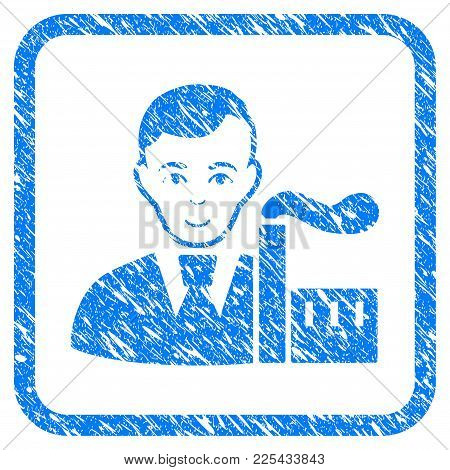 Capitalist Oligarch Rubber Seal Stamp Imitation. Icon Vector Symbol With Grunge Design And Dust Text