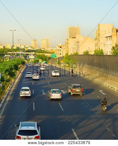 Tehran Road Traffic. Iran