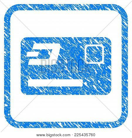 Dash Credit Card Rubber Seal Stamp Imitation. Icon Vector Symbol With Grunge Design And Unclean Text