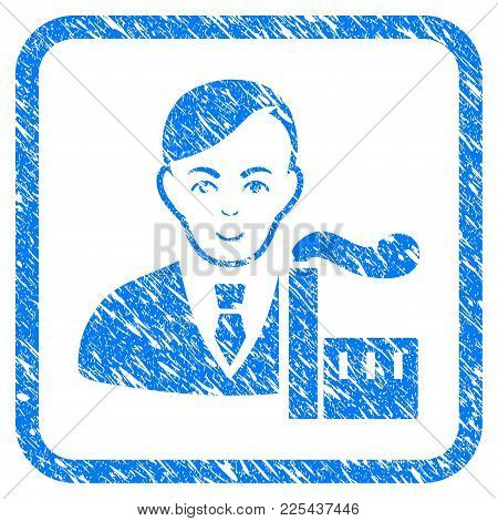 Capitalist Oligarch Rubber Seal Stamp Watermark. Icon Vector Symbol With Grunge Design And Corrosion