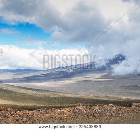 Andean Landscape In Salinas De Guaranda, Bolivar Province, Ecuador, Above 4, 000 Metres