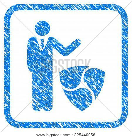 Businessman Show Nem Rubber Seal Stamp Imitation. Icon Vector Symbol With Grunge Design And Corrosio