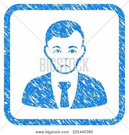 Businessman Rubber Seal Stamp Imitation. Icon Vector Symbol With Grunge Design And Dirty Texture In